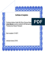 certificate of completion - nih training