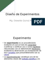 1. Diseño de Experimentos