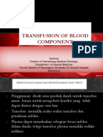3. Transfusion of Blood Component