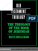 The Theology of the Book of Jeremiah - Walter Brueggemann