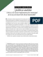 La política autista. Crítica a la red de implementación municipalde la Ley de Desarrollo Rural Sustentable