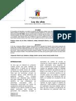 Informe de Laboratorio Ley de Ohm 1 (2