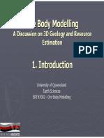 Ore Body Modelling