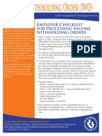 Employer Checklist for Processing Iwo