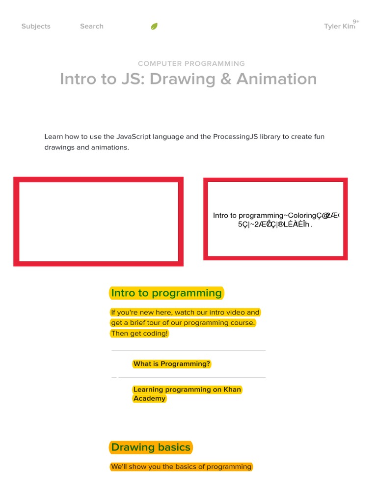 42) Intro to JS: Drawing & Animation   Computer programming   Khan