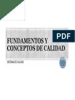 1 Fundamentos y Conceptos de Calidad