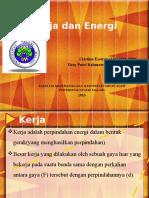 presentasi kerja dan energi