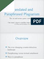 Translation and Paraphrasing