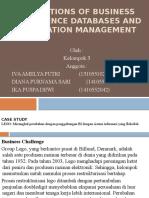 Foundations of Business Intelligence Databases