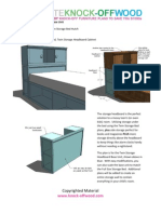 Knock-Off Wood Storage Headboard Base