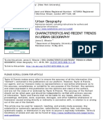 Wheeler - Characteristics and Recent Trends in Urban Geography