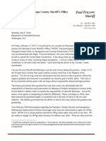 Penzone Letter to DHS