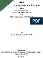 Sri Visnu Sahasranamam