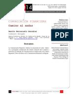 Icono14. A8/V2. Comunicación financiera. Camino al andar