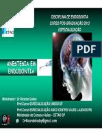 Anestesia Em Endodontia PDF