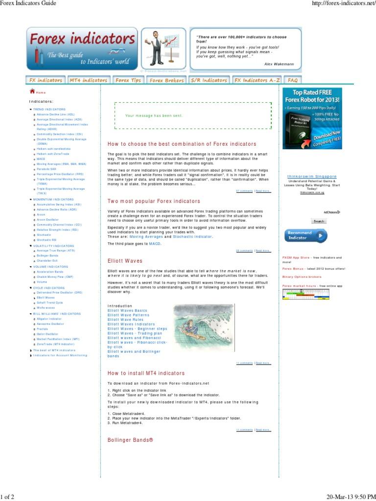 Forex Indicators Guide pdf   Analysis   Financial Markets