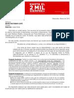 Modelo de cartas para permisos de producción audiovisual