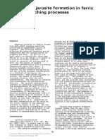 Ammonium Jarosite Formation Dutrizac