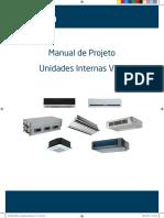 Midea - Manual de Projeto Unidades Internas VRF