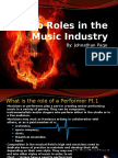 job roles in the music industry by johnathan page