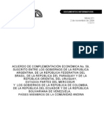 Acuerdo complementación económica MERCOSUR-CAN