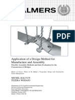 Application of a Design Method for Manufacture and Assembly