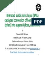 Biorefinery Hemicellulose Ionicliquid Sugar Hydrolysis Matsagar Pareshdhepe Ncl 151027042812 Lva1 App6891