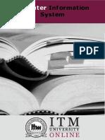 Computer Information System | ITM University | Semester 2 | MBA
