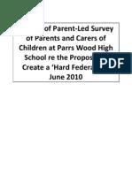 Results of Parent Led Parrs Wood Survey Re