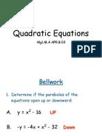 Determining Quadratic Equations