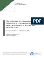Full NICE Epilepsy Guidance 2012