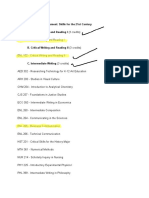 University Studies Program Courses