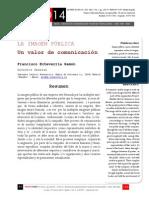 Icono14. A8/V2. La imagen pública. Un valor de comunicación