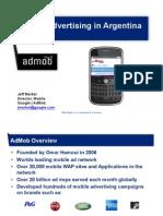 Mobile Advertising in Argentina - Admob