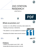 radio station research  junction 11