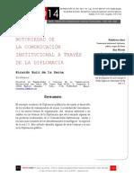 Icono14. A8/V2. Notoriedad de la comunicación institucional a través de la diplomacia