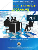 Brochure of Campus Placement Programme February-March 2017