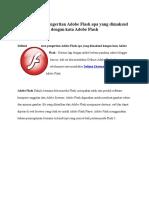 Definisi Atau Pengertian Adobe Flash