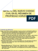 Impacto DEL NUEVO Codigo Civil