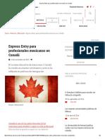 Express Entry Para Profesionales Mexicanos en Canadá