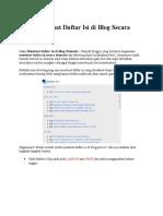 Cara Membuat Daftar Isi Di Blog Secara Otomatis