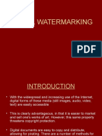 Digital Water Marking