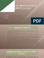 Diseño de Mezcla Comite 211 Aci- Maykol Ayala
