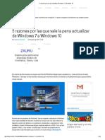 5 Razones Por Las Que Actualizar Windows 7 a Windows 10