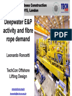 Deepwater Exploration and Production Activity and Fibre Rope Demand