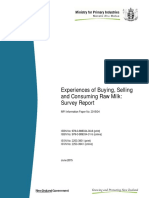 2015 04 Raw Milk Survey Report