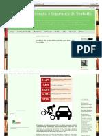 DDS - Cresce Os Acidentes Do Trabalho e de Trajeto