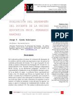 """Icono14. A8/V2. Evaluación del desempeño del docente de la unidad educativa """"Prof. Fernando Ramírez"""""""
