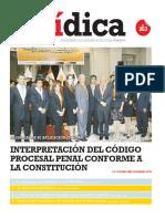 INTERPRETACIÓN DEL CÓDIGO PROCESAL PENAL CONFORME A LA CONSTITUCIÓN