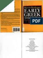 Heidegger Martin Early Greek Thinking  .pdf